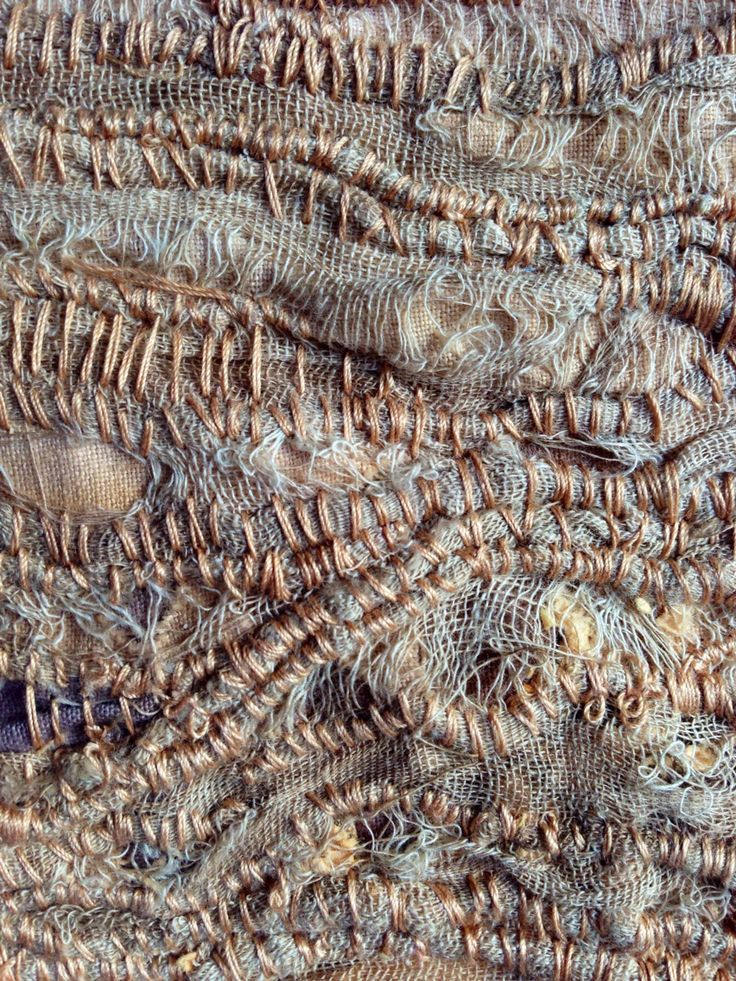 embroidered fibre art using rust dyed fabric - Google Search