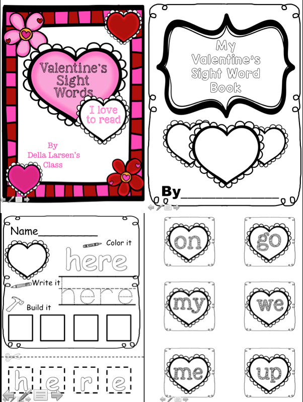 valentine u0026 39  day word work centers  there is a sight word