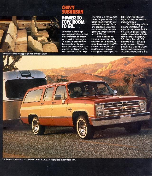 1985 Chevy C10 Suburban Silverado With Eexterior Decor Package In