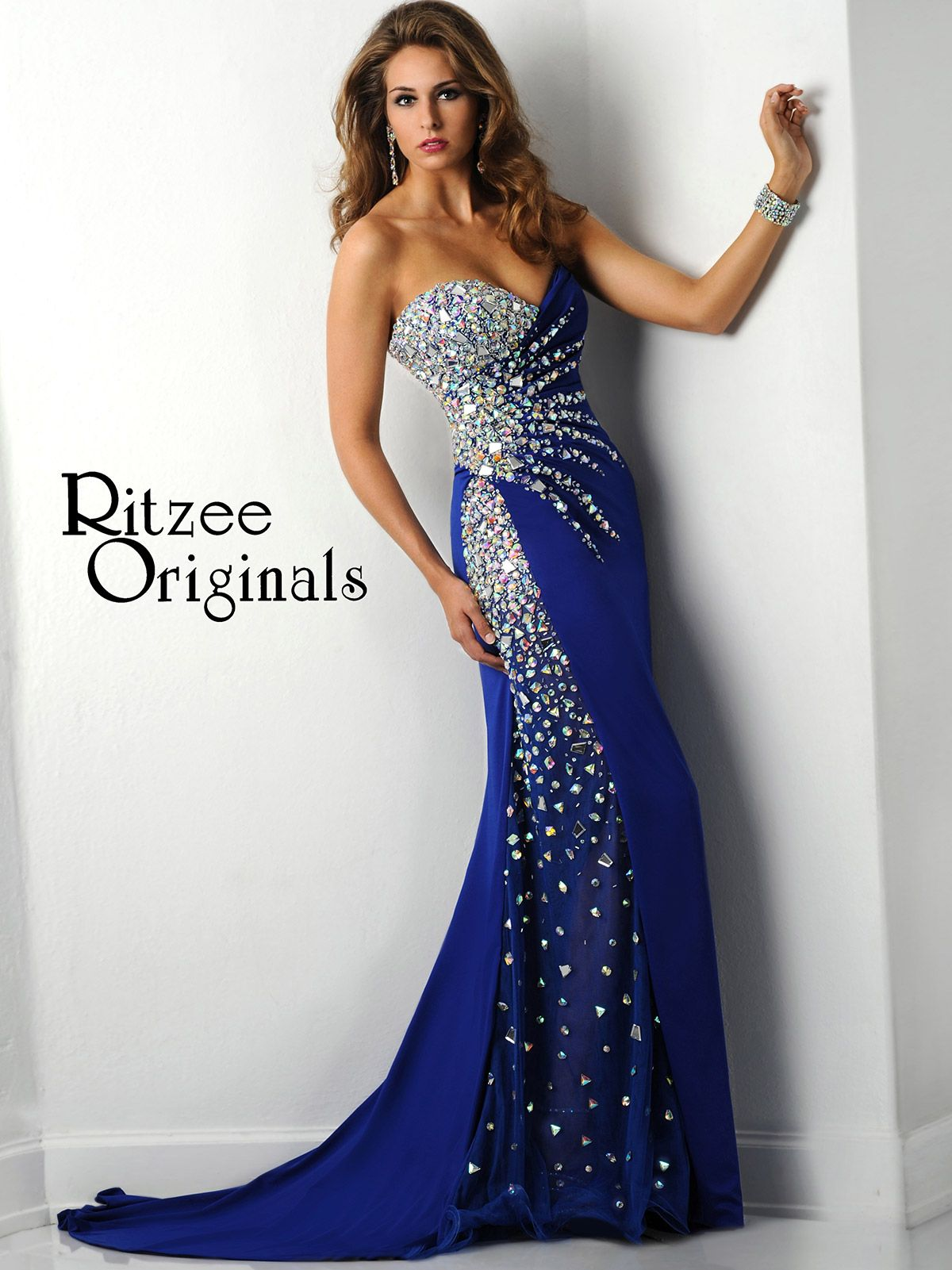 This jersey Ritzee Originals 2429 pageant dress features a ...