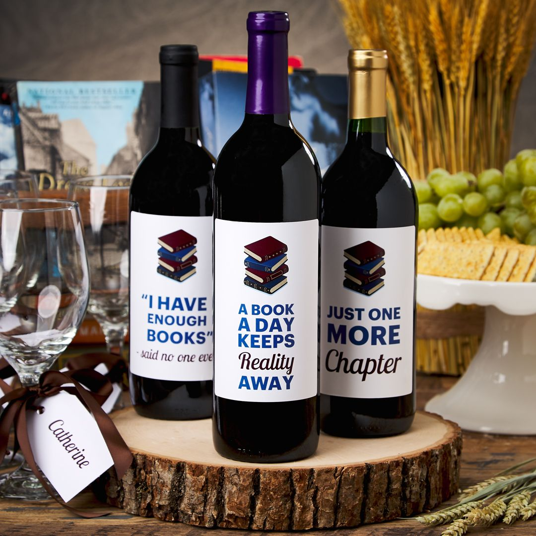 Book Club Wine Bottle Label Templates Print Wine Labels Wine Bottle Label Template Wine And Cheese Party