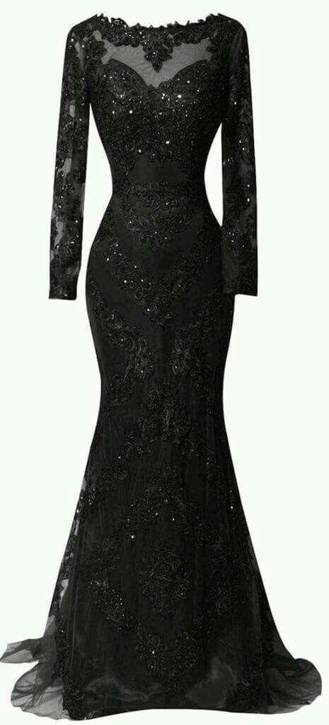 Black sequin floor length dress  5e7165ab6519