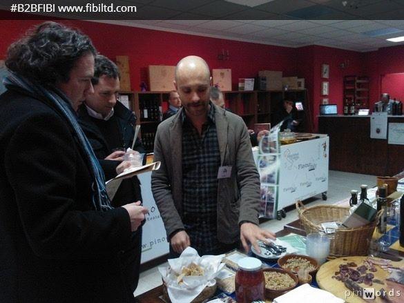 Giuseppe with Irish buyers interested in Italian food!