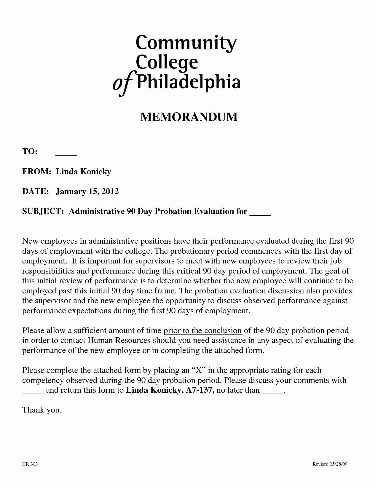 90 Day Probationary Period Offer Letter Inspirational 90 Day Probationary Period Template In 2021 Contract Template Templates Cover Letter For Resume