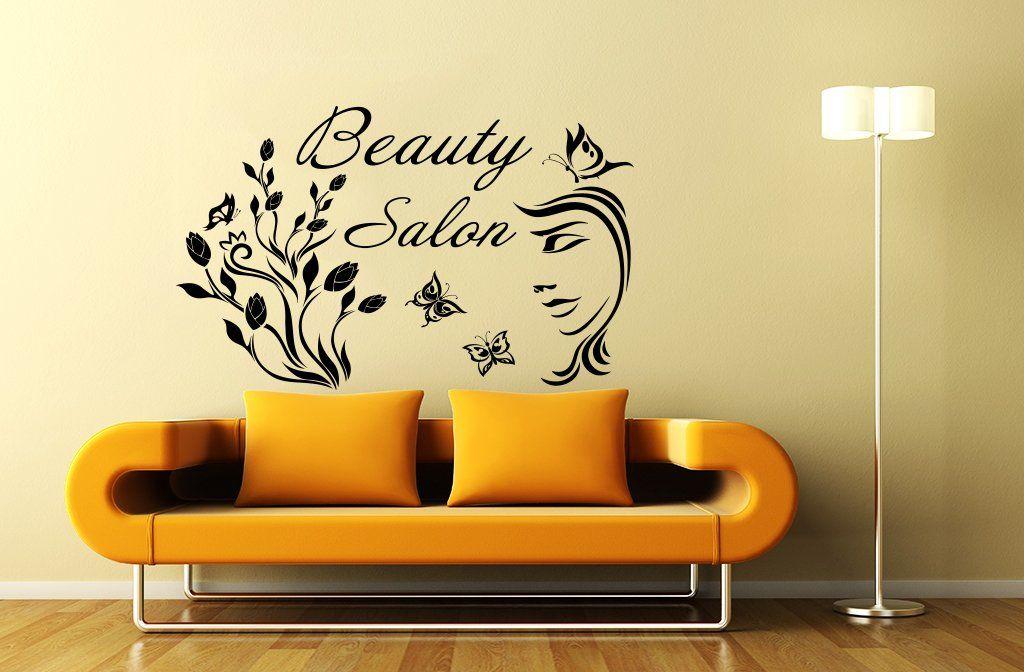 Wall Decals Beauty Salon Hair Fashion Girl Woman Face Haircut