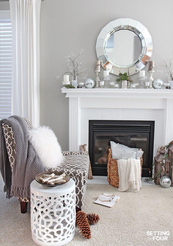 Winter Mantel Decorating Ideas  Winter Living Room Living Room Amusing Living Room Simple Decorating Ideas Design Decoration