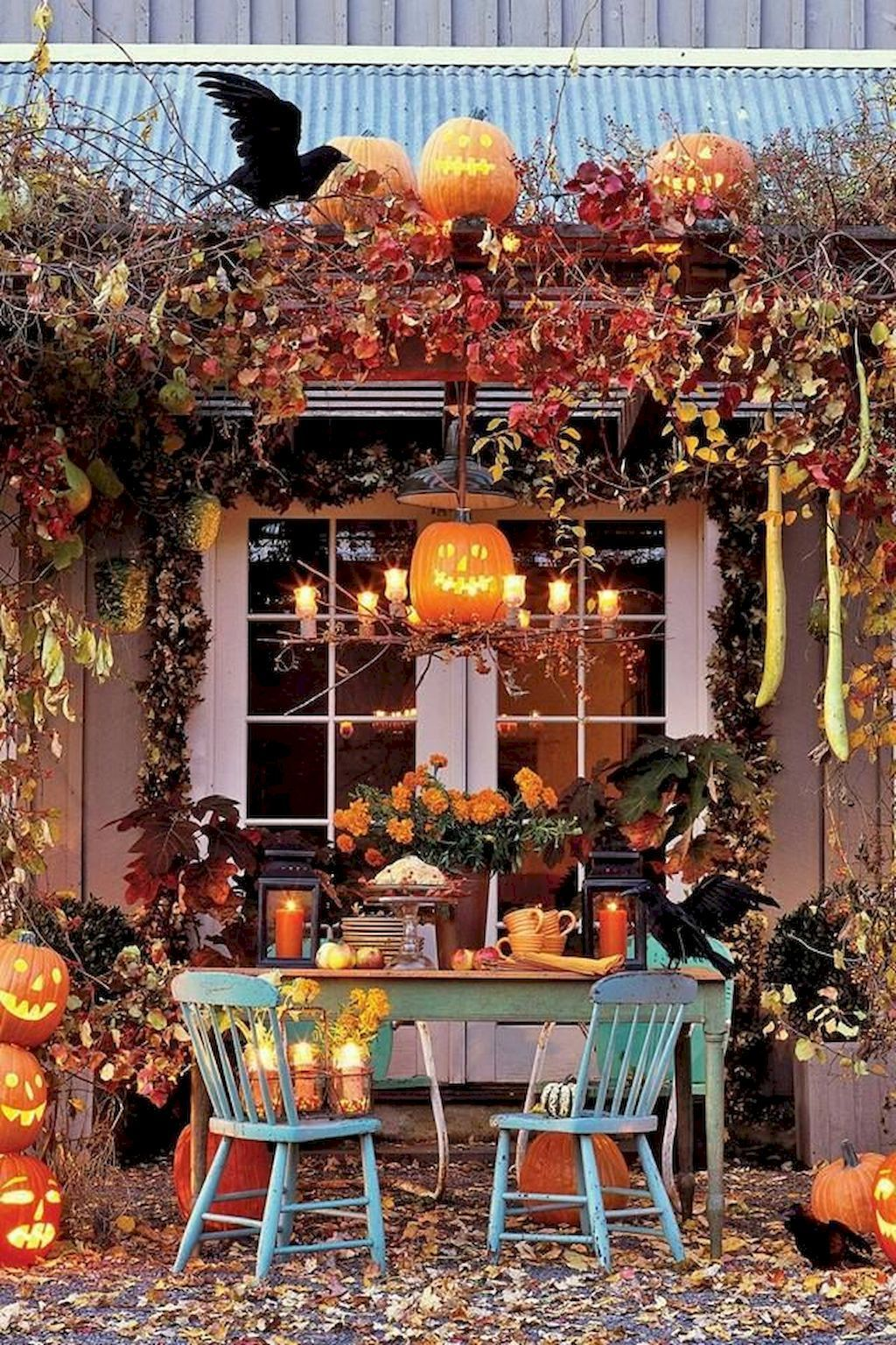 80 + CREEPY OUTDOOR HALLOWEEN DECORATION IDEAS (85 Decorating your - Pinterest Outdoor Halloween Decorations