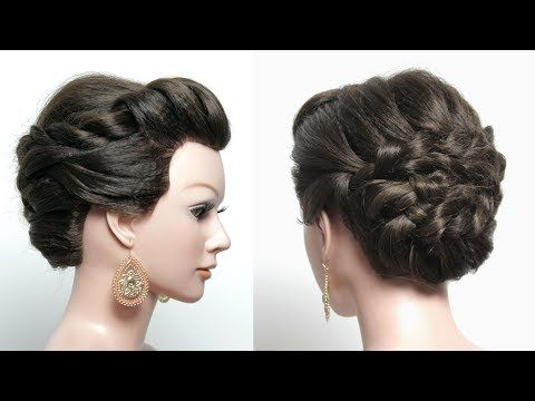 Easy Party Hairstyles. Beautiful Hairstyle With Puff For Long Hair   YouTube
