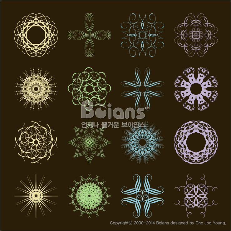 다른 스타일의 기하학 문양 세트. 오리지널 패턴과 문양 시리즈. (BPTD020117) Different styles of dispenser Symbol Sets. Original Pattern and Symbol Series. Copyrightⓒ2000-2014 Boians.com designed by Cho Joo Young.