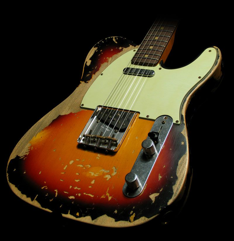 Fender Custom Shop 63 Telecaster Ultimate Relic Music Zoo Exclusive 3 Tone Sunburst Masterbuilt By Jason Smith