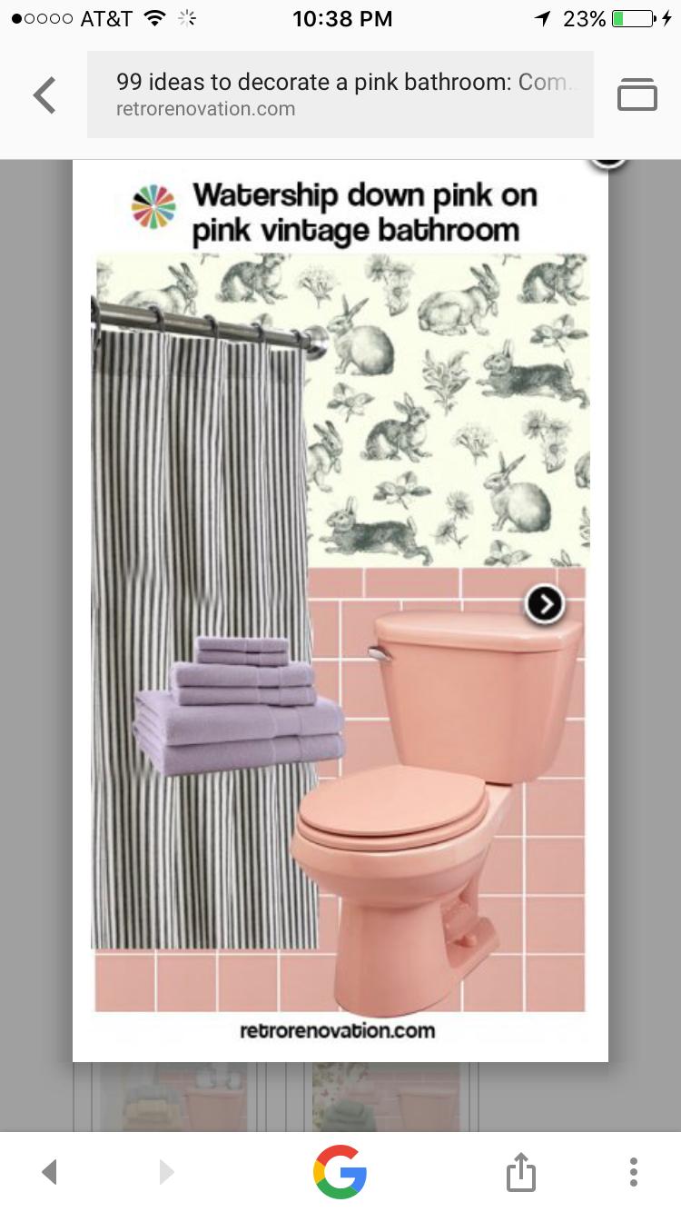 Pin By Tyler Elizabeth On Hillcrest Pink Bathroom Tiles Pink Bathroom Retro Pink Bathroom