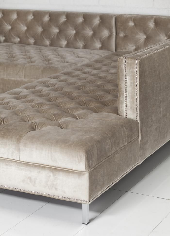 deep tufted sectional. yay : tufted sectionals sofas - Sectionals, Sofas & Couches