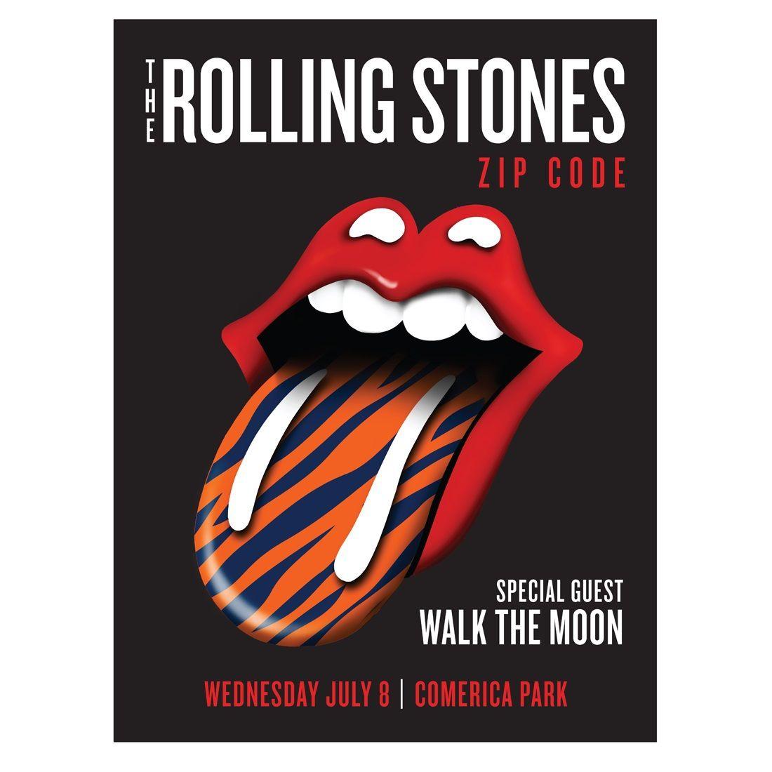 Book Cover Art Zip Code : The rolling stones zip code tour detroit us