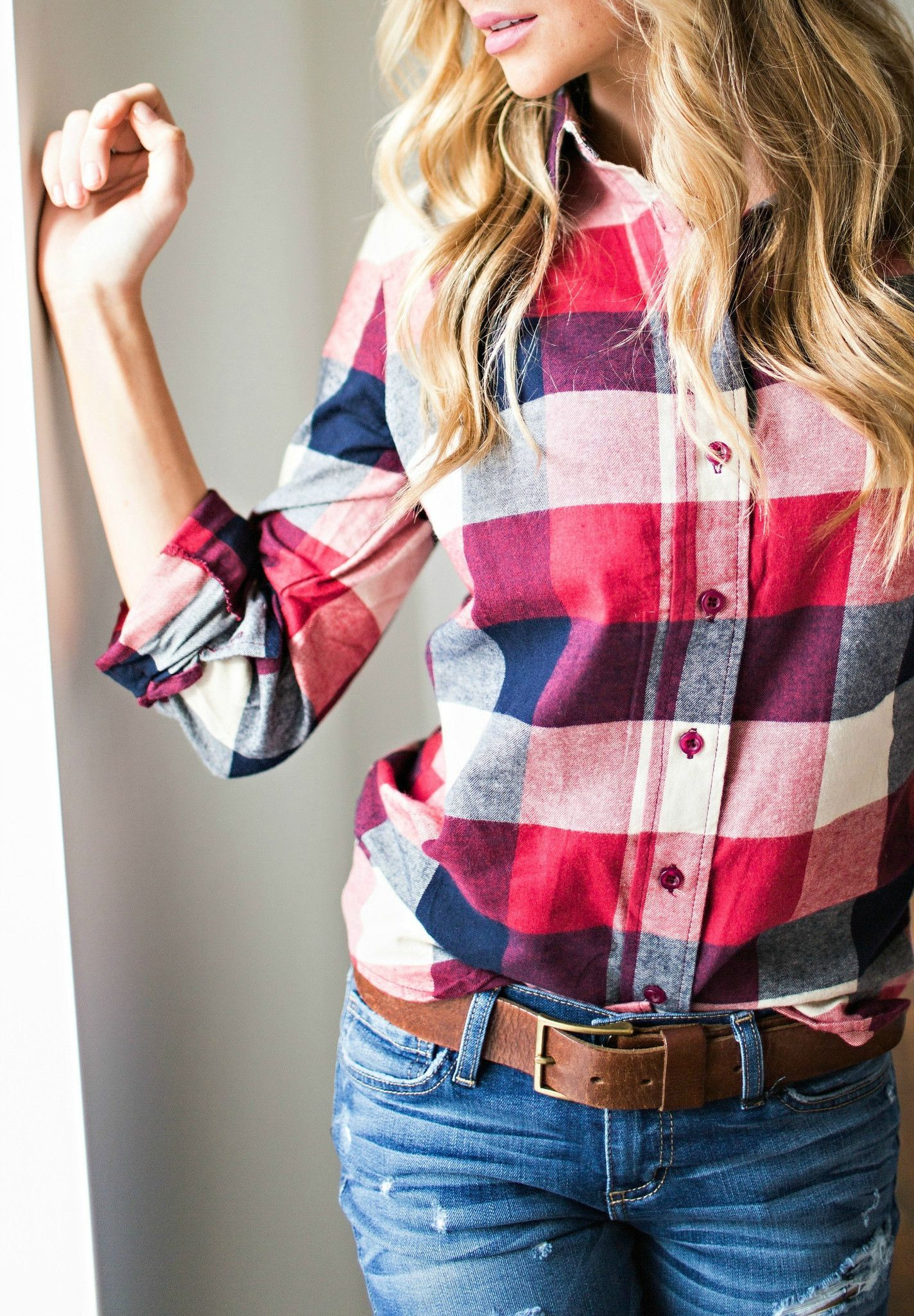 Flannel outfits around waist  PairsWell Plaid Shirt  Outfits  Pinterest  Plaid Taupe and Navy