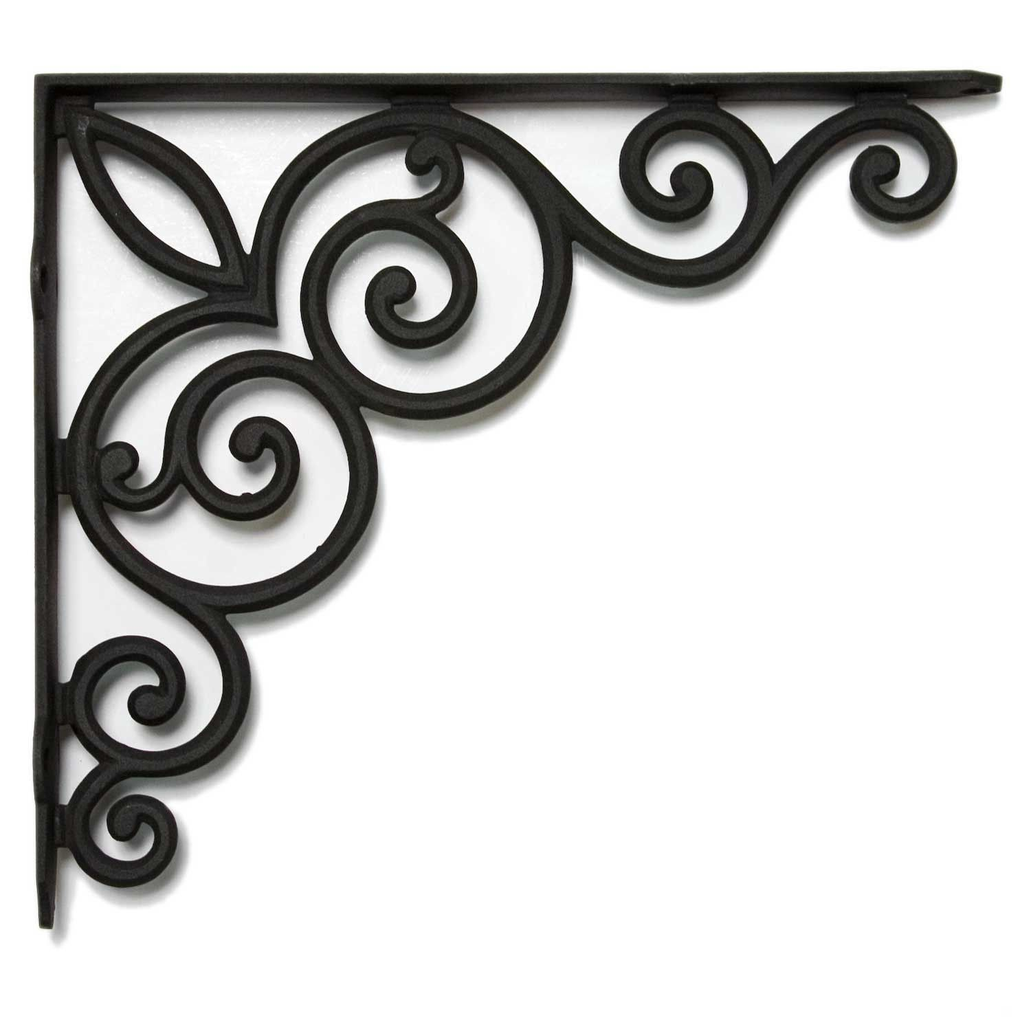 VINTAGE-STYLE CAST IRON BRACKET Scroll TUSCAN Wrought ORNATE ...