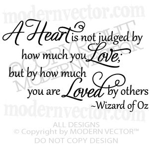 Quote Wizard Beauteous Wizard Of Oz Vinyl Wall Quote Decal Heart Is Not Judged  Vinyl Wall . Decorating Inspiration