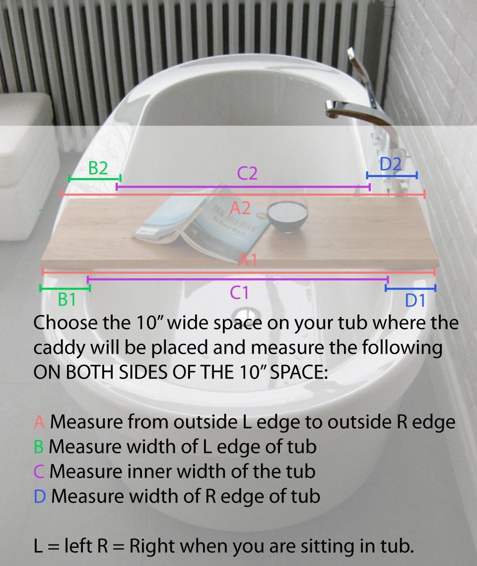 How to measure for making a Wood Bath/tub caddy/tray of salvaged ...