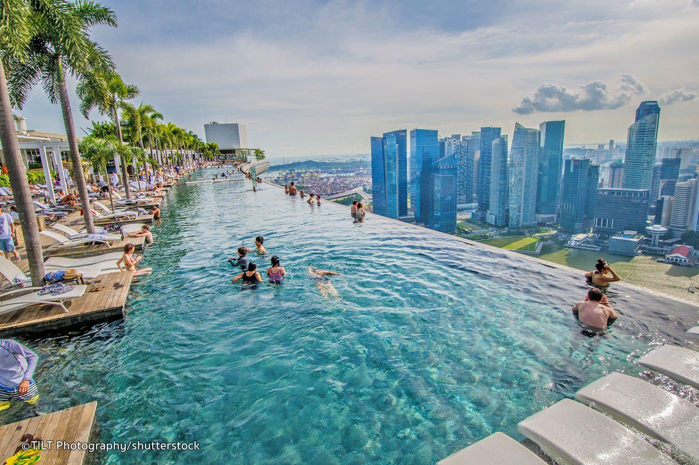 Marina Bay Singapore Piscina Sul Tetto Sea Cool