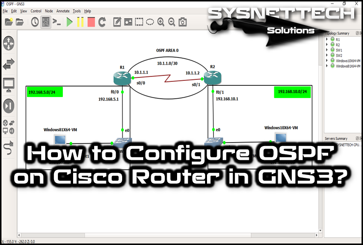 █ How to Configure OSPF on Cisco Router   SYSNETTECH Solutions ───────────────────────────────────────── █ Read the Article ► https://goo.gl/xatkgu ───────────────────────────────────────── #Cisco #CCNA #CiscoCCNA #CCENT #Routing #CCNARouting #CiscoRouting #CiscoRouter #Router #GNS3 #GNS3Labs #GNS3Tutorial #OSPFRouting #CiscoOSPF #CiscoNetworking #Network #IT #ICND #CiscoLearning #CCNALessons #GNS3Router