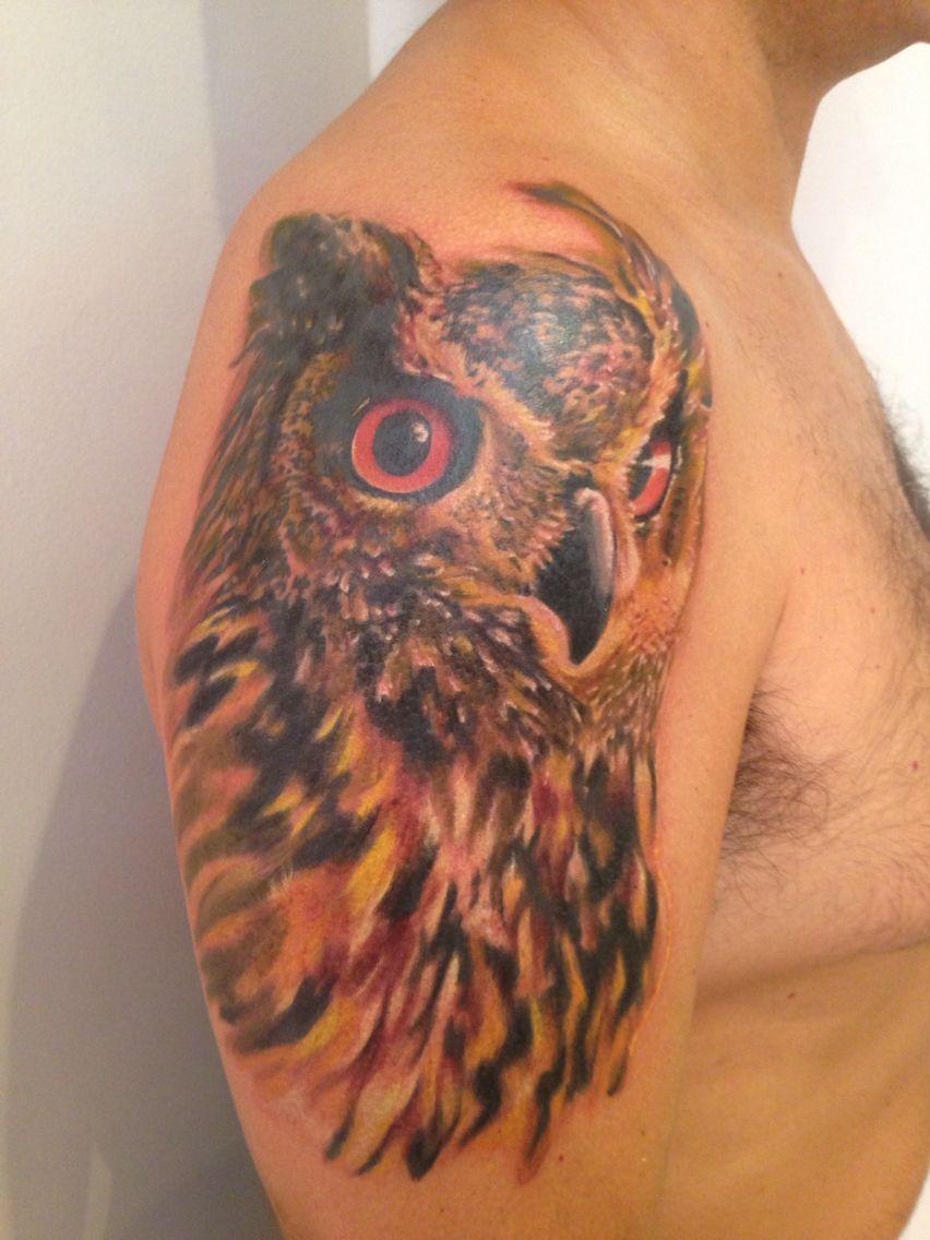 . #donmedeiros #art #arte #tattoo #tatuage #tatuagem #tattooist #evolvecrew #owl #coruja