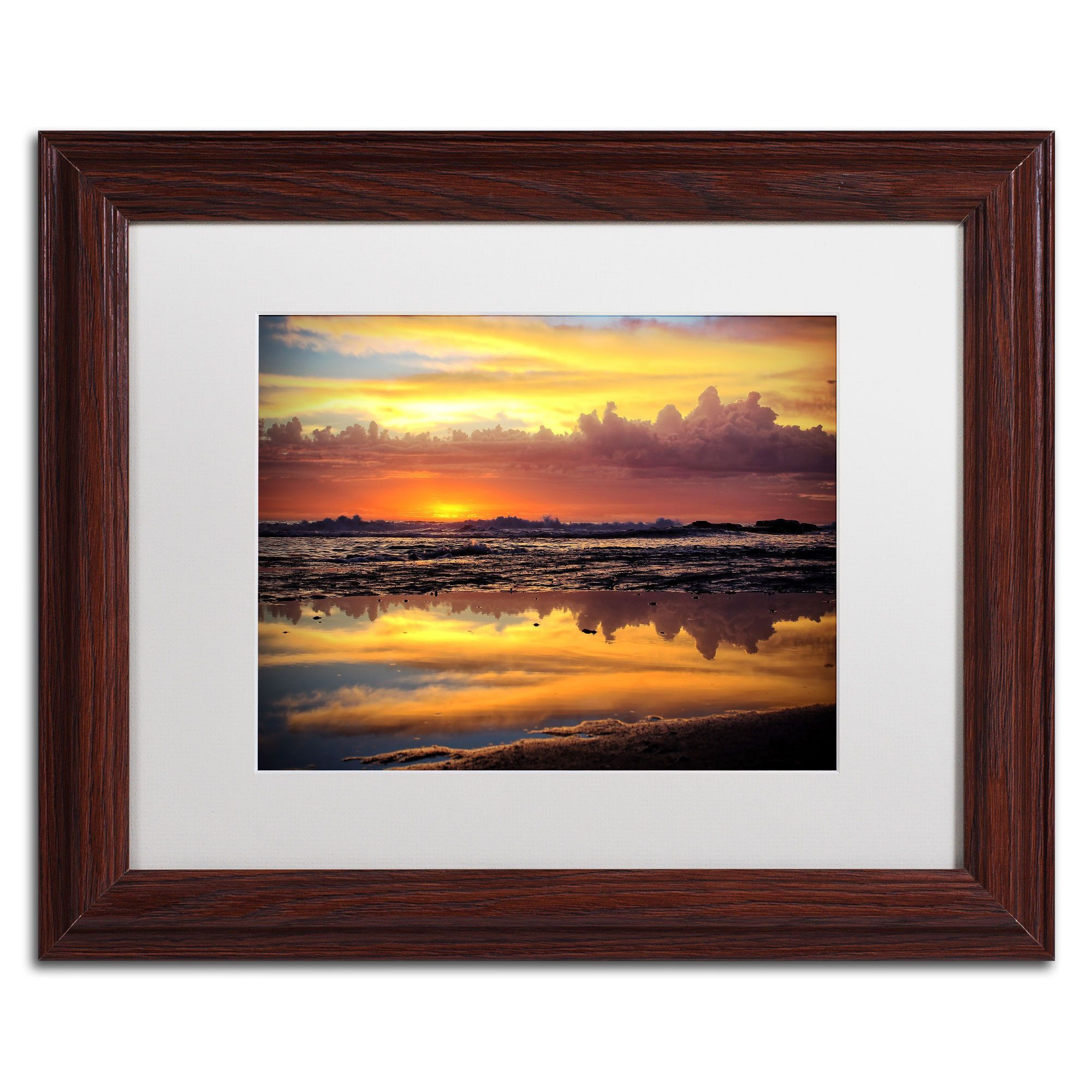 'Morning Reflections' by Beata Czyzowska Young Framed Photographic Print