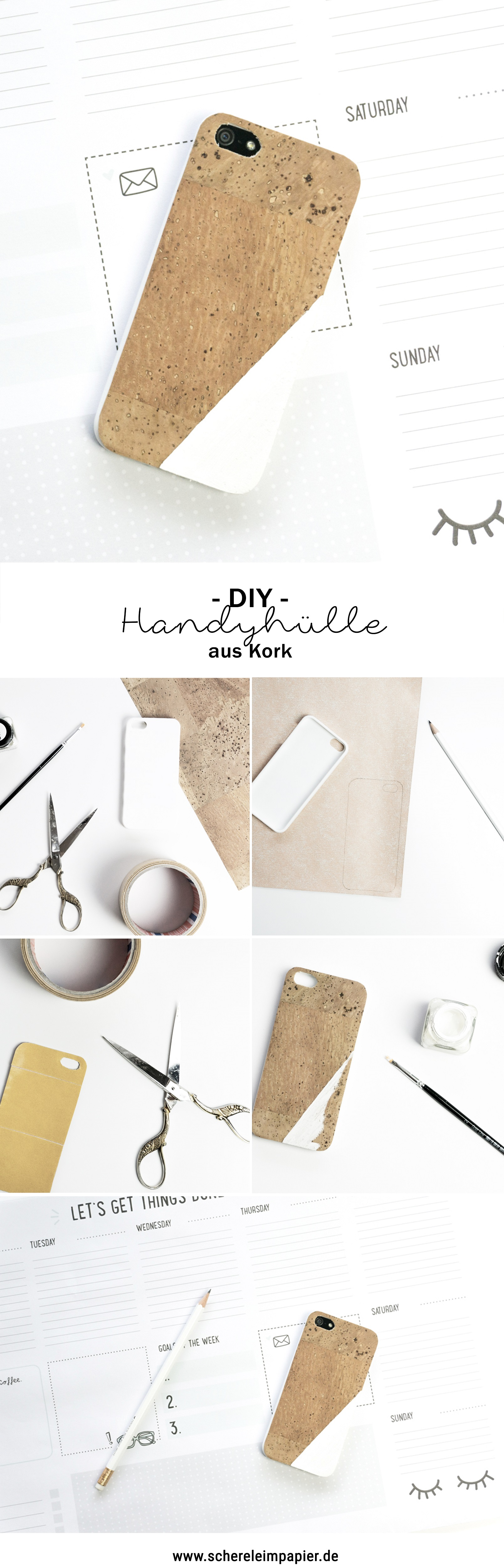 diy handyh lle aus kork selbstgemacht diy inspirationen. Black Bedroom Furniture Sets. Home Design Ideas