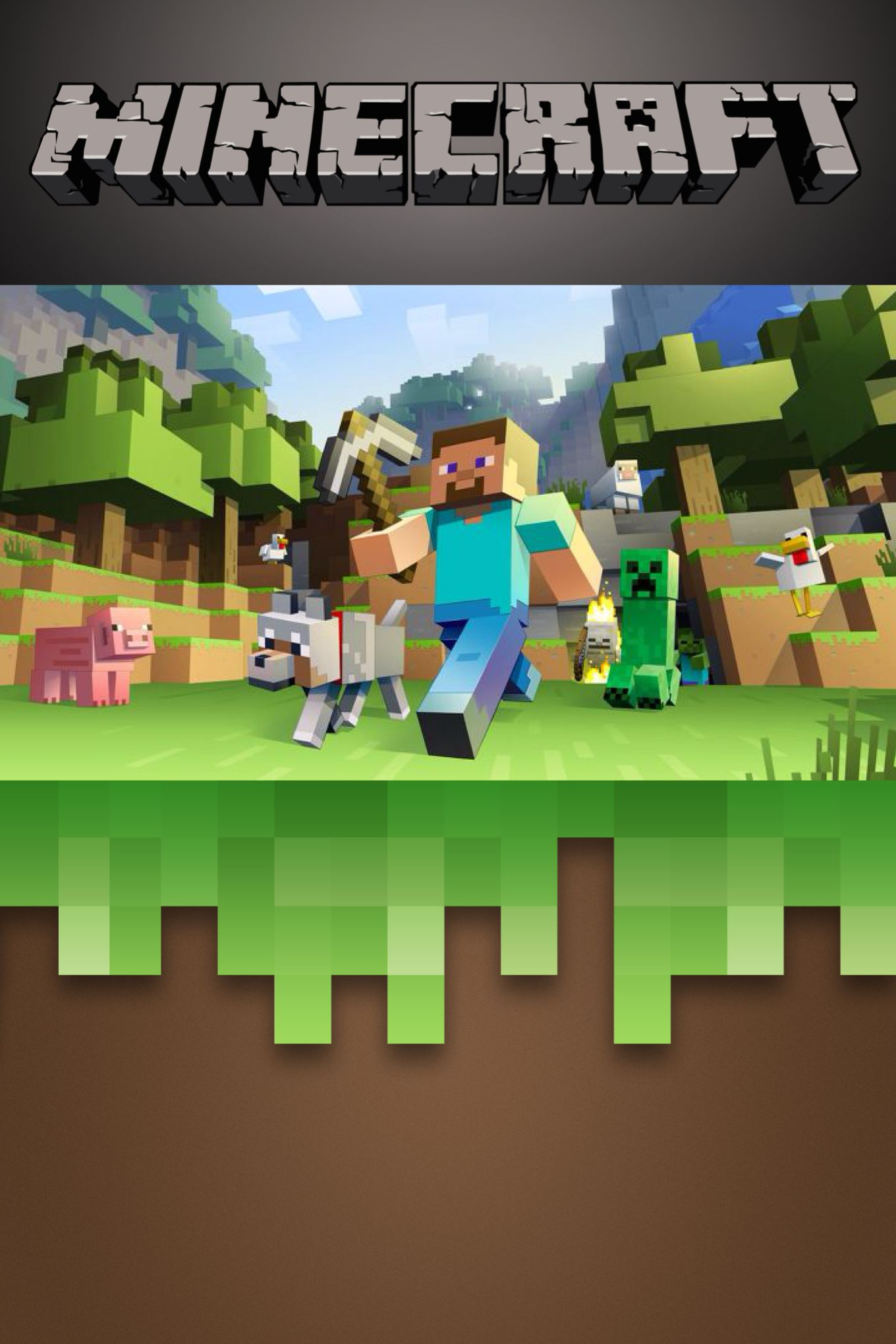 Free Minecraft invitation template Edit on Phonto app print as