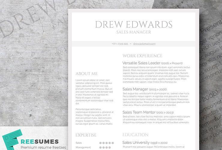 Free Straightforward Resume Design Basic Grey And White Freesumes Resume Design Resume Design Template Resume Design Free