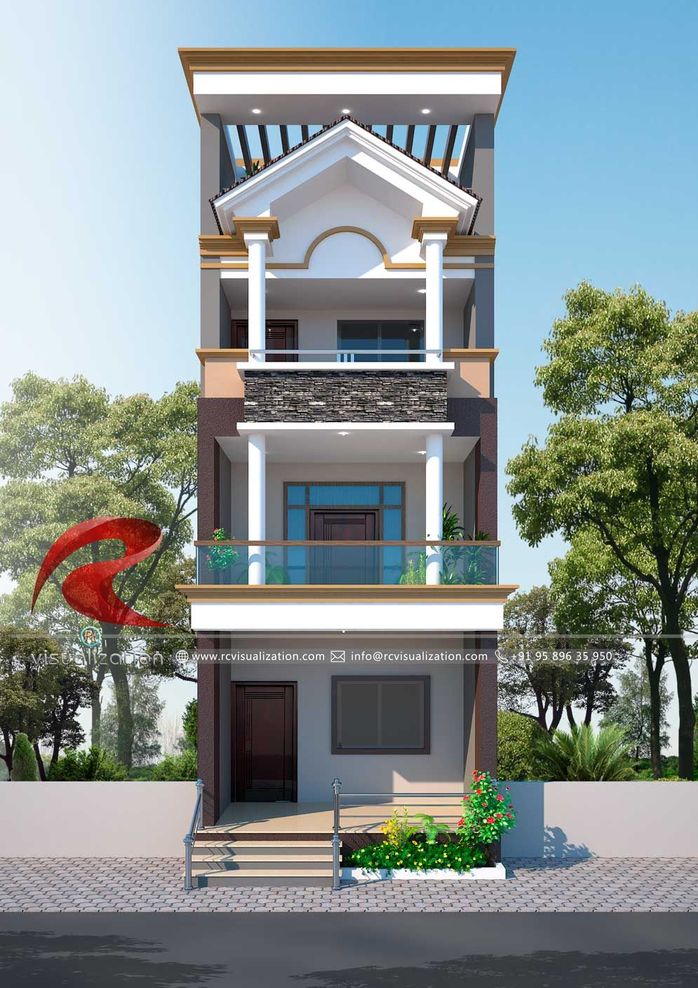 Small House Elevation Design Small House Design Exterior Narrow: RC Visualization Structural Plan And Elevation Designing