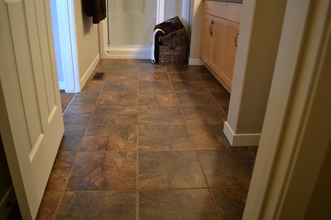 Dark Brown Ceramic Floor Tiles
