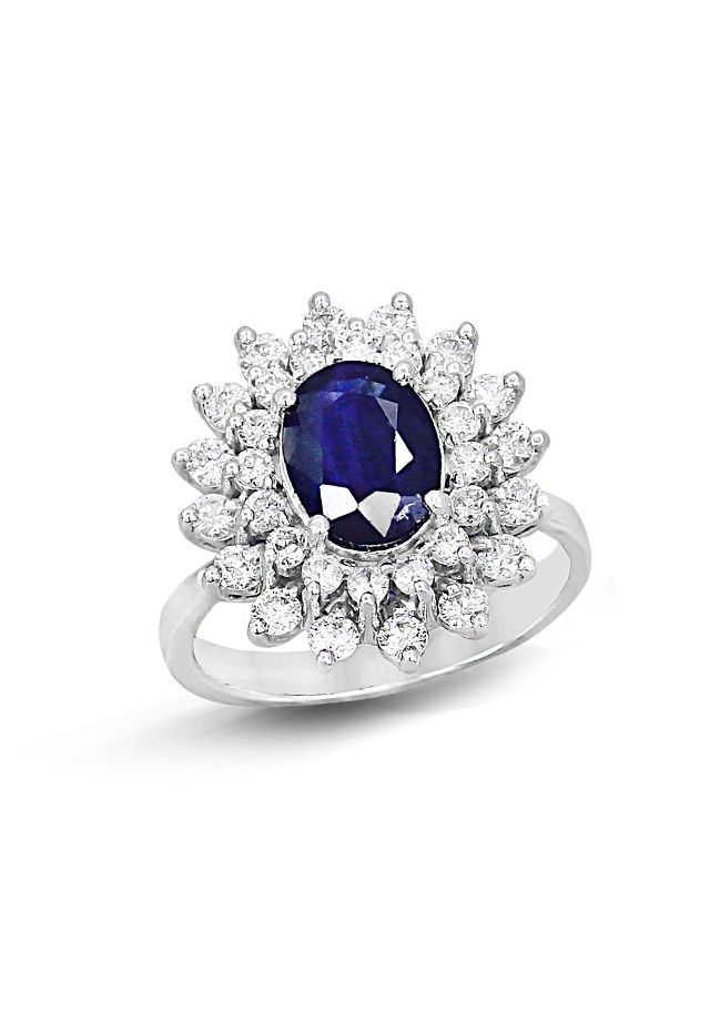 SEE DETAILS HERE:Effy Jewelry Gemma Royalty Blue Sapphire and Diamond Ring, 2.92 TCW