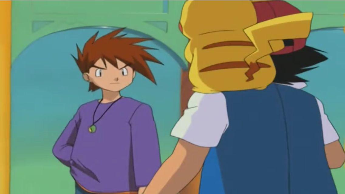Ash And Pikachu Vs Gary Pokemon People Pokemon Ash Pokemon