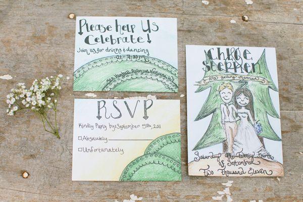 Backyard Wedding Invitation: DIY Backyard Wedding From Gladys Jem Photography