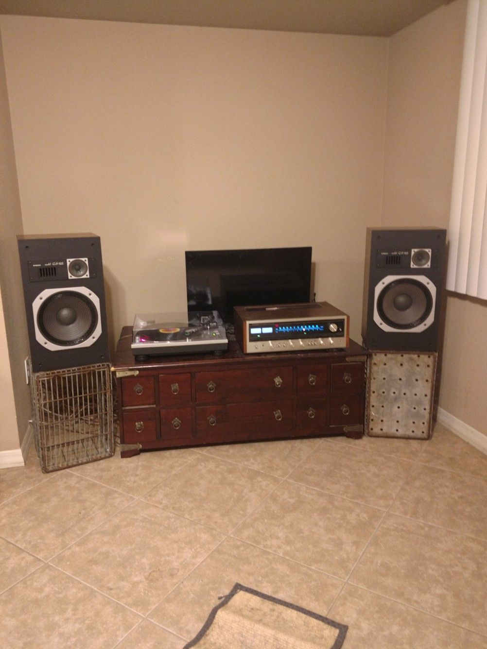 My Bedroom Setup Pioneer Sx 838 Pioneer 522 Speakers
