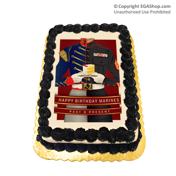 Cake Topper Happy Birthday Marines Past and Present