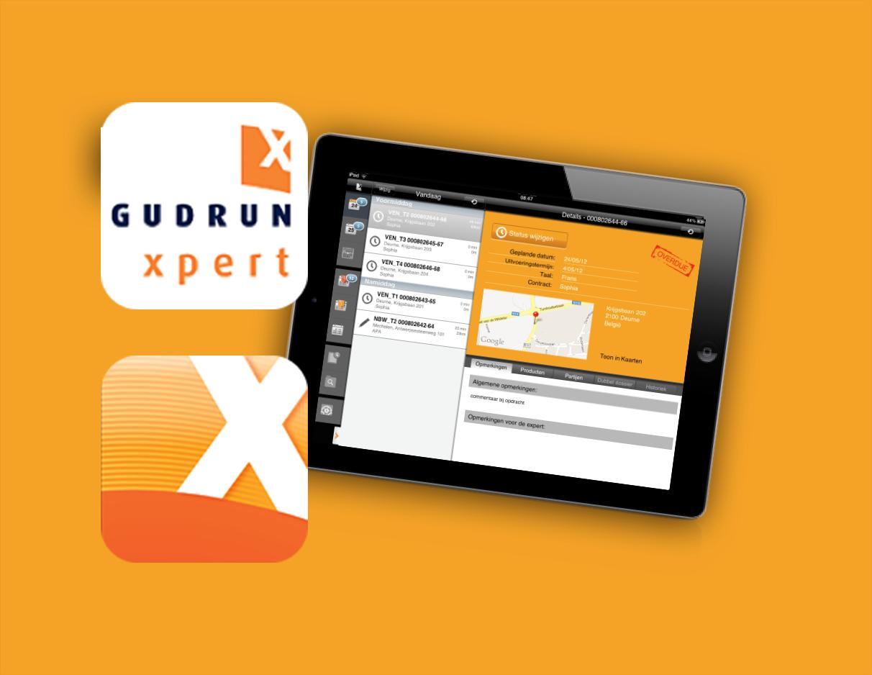 Gudrun Xpert: productivity enterprise app voor verzekerings- & vastgoed-expertises