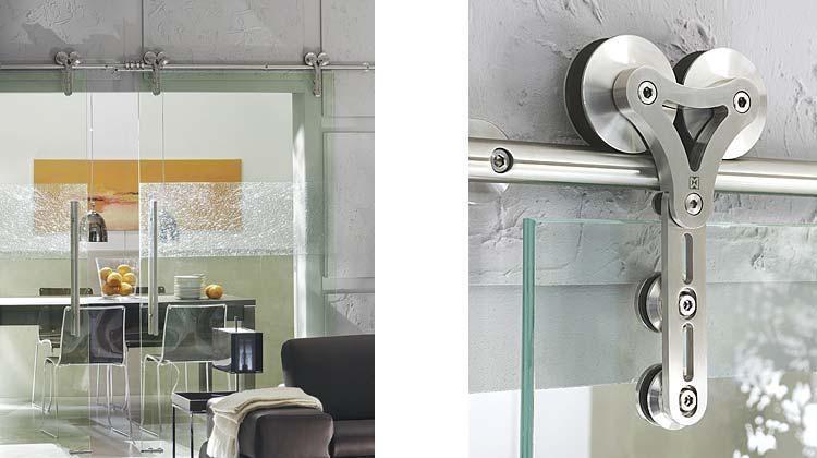 Duplex Mwe Modern Stainless Steel Sliding Door Hardware St 1007