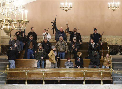 Hundreds of gun-rights activists rally at Washington Capitol