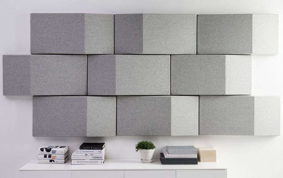 fabric wall designs. Fabric decorative acoustical panels TRILINE WALL by Abstracta design Anya  Sebton acoustic panel wall mounted colored