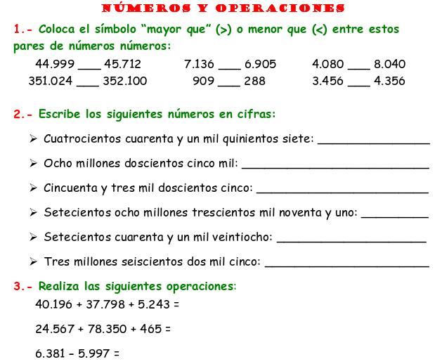 Cuaderno de Ejercicios de Matematicas para Quinto Grado de Primaria ...