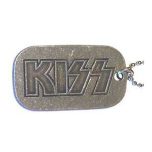 Kiss Logo Dog Tag - This KISS Logo Dog Tag features a KISS Logo.
