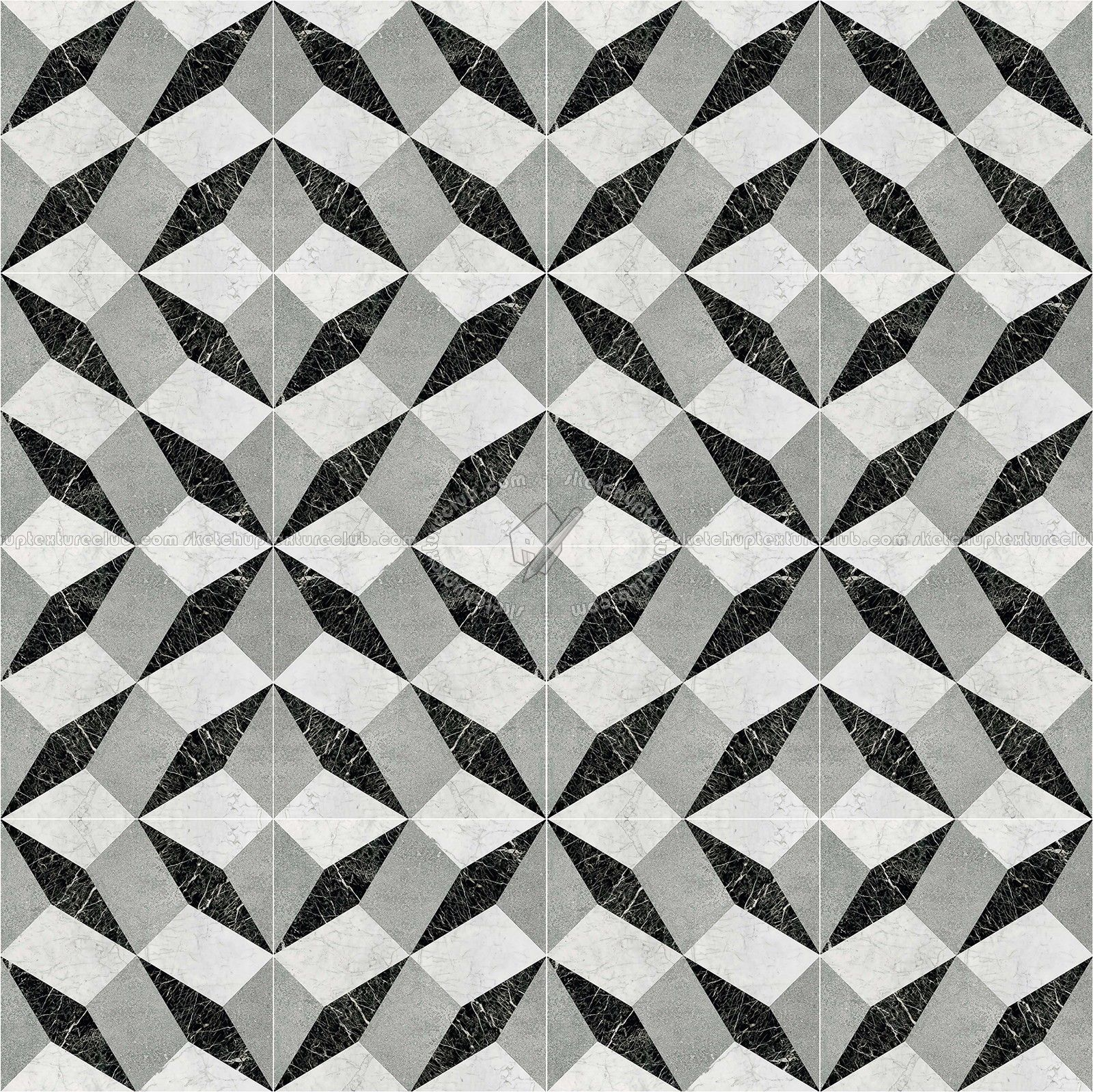 Texture Seamless | Illusion Black White Marble Floor Tile Texture Seamless  14822u2026