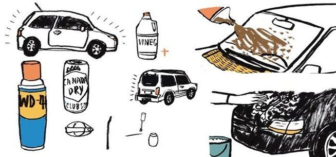 Cleaning the interior and exterior of your car using unconventional products