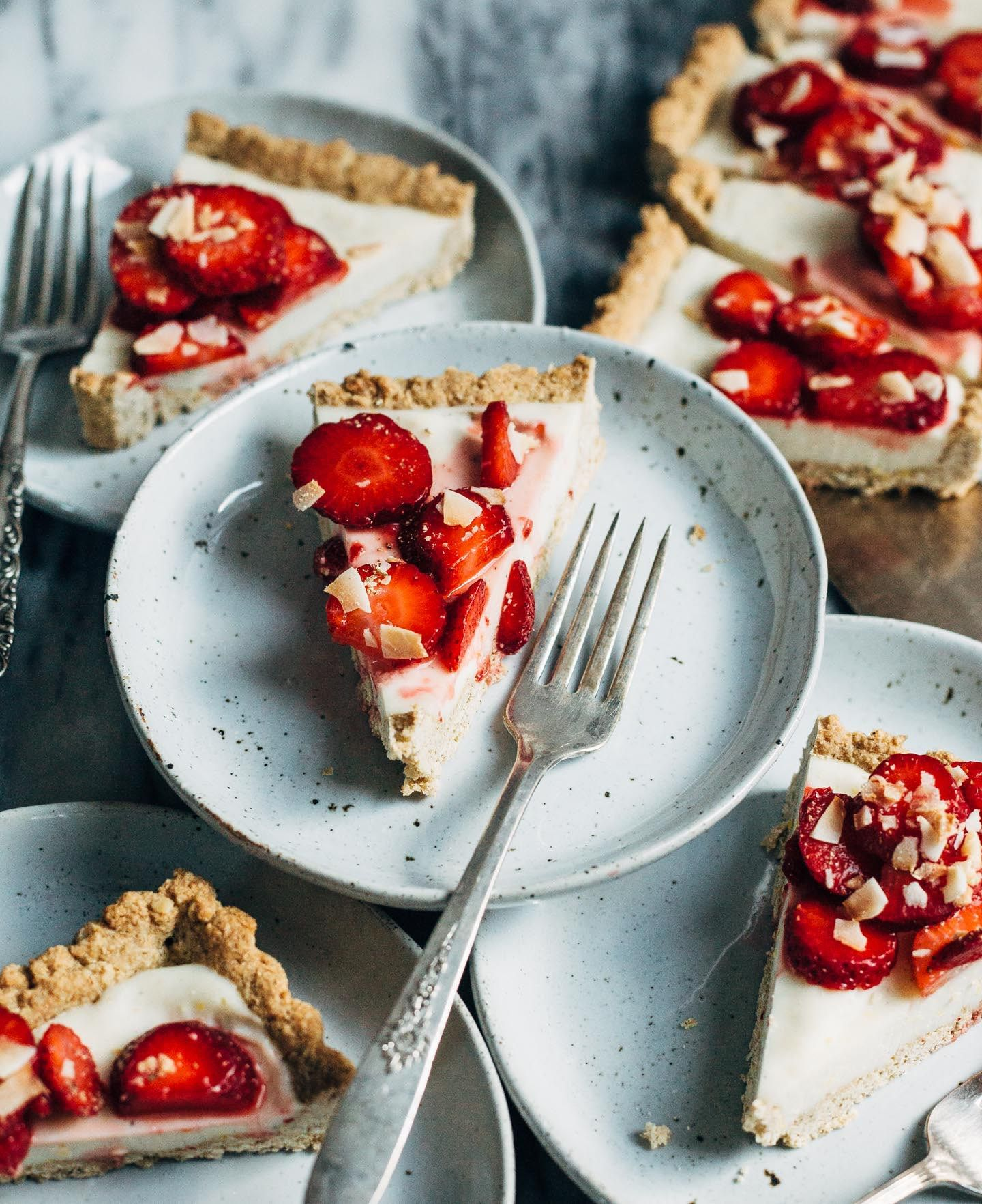 Strawberry Coconut Tart Gluten Free Vegan Recipe Coconut