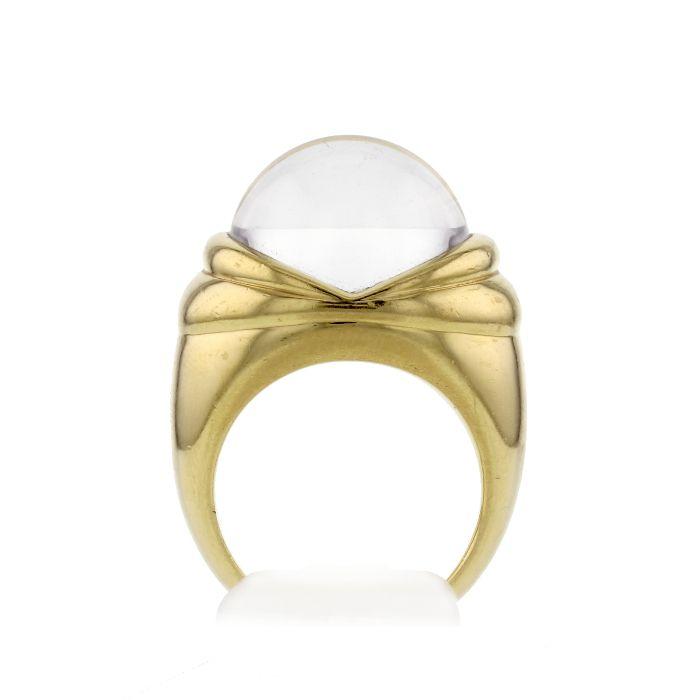 bague or et cristal
