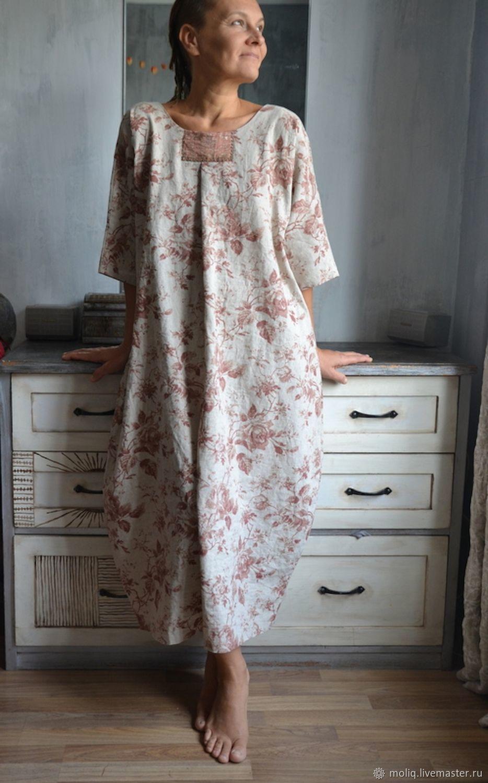 483ad2fdb679511 Платья ручной работы. Ярмарка Мастеров - ручная работа. Купить Платье Бохо  стиль. Балахон Французская роза. Handmade. Лето