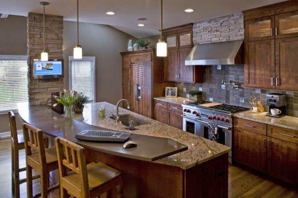 Dise o cocina americana rustica buscar con google - Diseno de cocinas rusticas ...