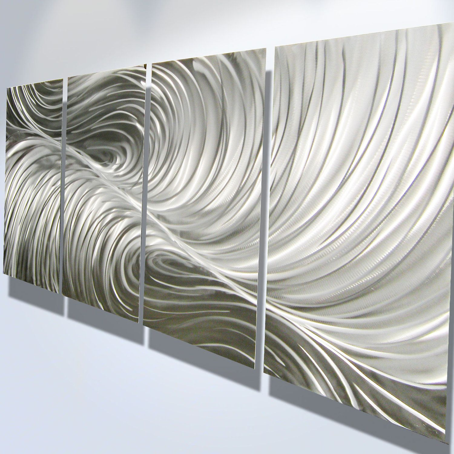 metal wall art decor abstract aluminum contemporary modern  -  (north wall bullpen right side) metal wall art decor abstractcontemporary