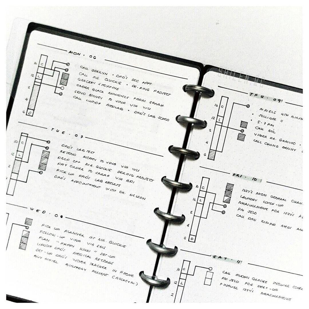 Minimal Bullet Journal Random Art Black And White