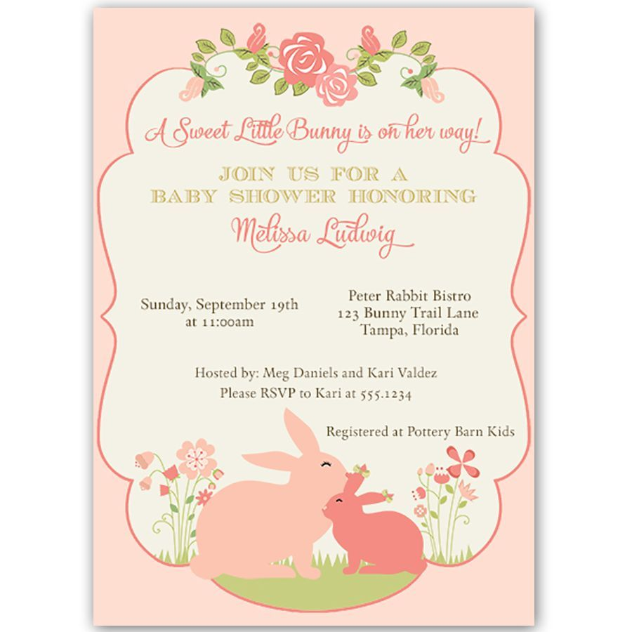Some Bunny Baby Shower Invitation | Bunny, Babies and Babyshower